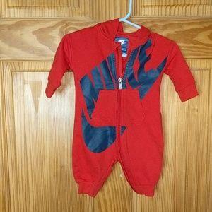 Infant Red Nike Jumpsuit | 0-3 M